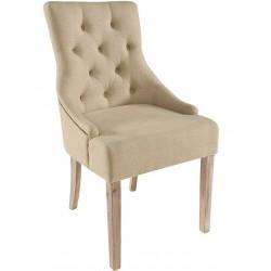 Sasha Upholstered Cream Fabric Dining Chair
