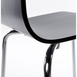 Carino Dining Chair Black Detail Edge