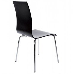 Carino Dining Chair Black Angle