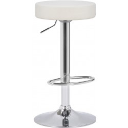 Semplice Bar Stool, white front angled view