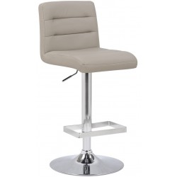Luscious Bar Stool, grey, front angled view