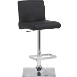 Snella Bar Stool, black, front angled view