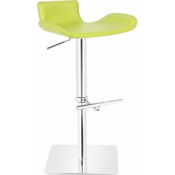 Favoloso Leather Bar Stool - Lime Green