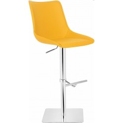 Magnifico Leather Bar Stool - Yellow