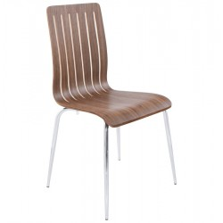 Rayas Dining Chair Walnut Angle