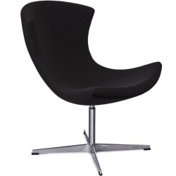 Vidsel Scandi Style Lounge Chair Black Front Angled View