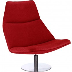 Luvos Accent Lounge Chair Red Front Angled View
