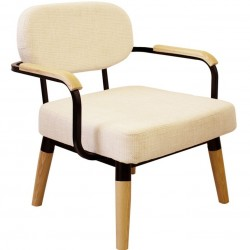 Pajala Scandinavian Style Arm Chair Angled Front View