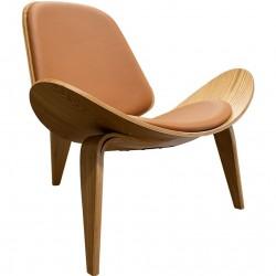 Wegner Inspired Shell Chair - Tan
