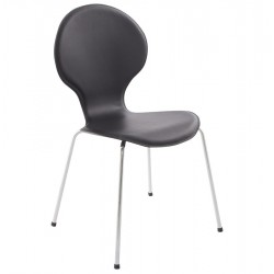 Forma Dining Chair Black Angle