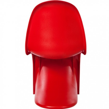 Verner Panton Inspired S -Shape  Chair - Red Rear View