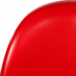 Verner Panton Inspired S -Shape  Chair - Red Material Detail