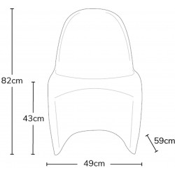 Verner Panton Inspired S -Shape  Chair - Dimensions