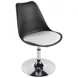 Corredor Dining Chair Black and White Angle