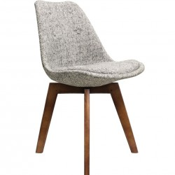 DSW Fabric Chair Artic walnut legs Angled View