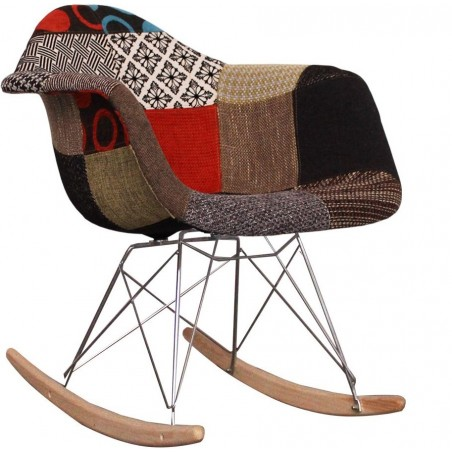 Charles Ray Eames inspired Patchwork RAR Rocking Chair angle view