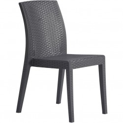 Novara Garden Stackable Side Chair - Angled View