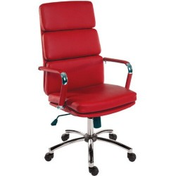 Deco Executive Office Chair - Red