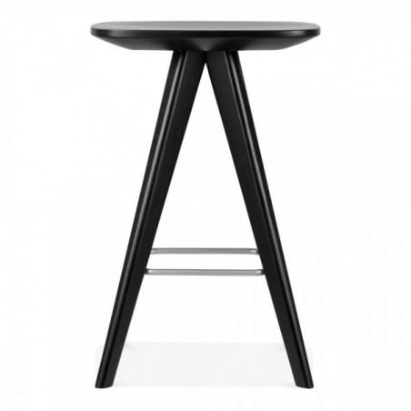 Scandinavian black wooden bar stool 2