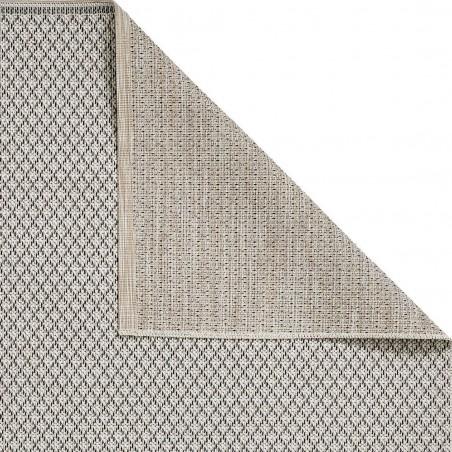 Stitch 9682 Outdoor/ Indoor Rug - Beige Black Backing Detail