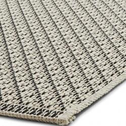 Stitch 9682 Outdoor/ Indoor Rug - Beige Black Edge Detail