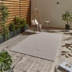 Stitch 9682 Outdoor/ Indoor Rug - Beige Black Outdoor Mood Shot