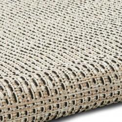 Stitch 9683 Rug - Beige/Black Pattern Detail 2