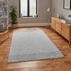 Tweed 9743 Rug - Beige/ Blue Indoor Mood Shot