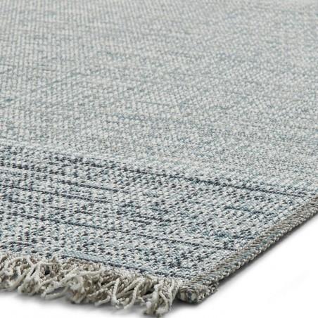 Tweed 9743 Rug - Beige/ Blue Edge Detail