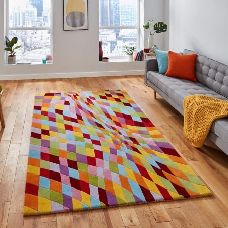 Prism PR101 Multi Wool Rug  Mood Shot