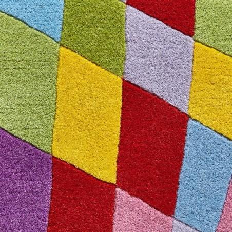 Prism PR101 Multi Wool Rug Pattern Detail