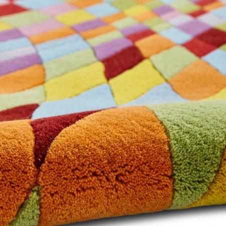Prism PR101 Multi Wool Rug Pattern Detail 2