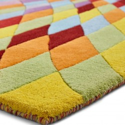 Prism PR101 Multi Wool Rug Edge Detail