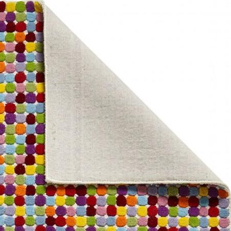 Prism PR429 Multi Wool Rug Backing Detail