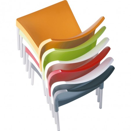 Prego Poly Chair Stacking Detail