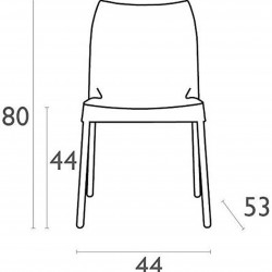 Prego Poly Chair Dimensions
