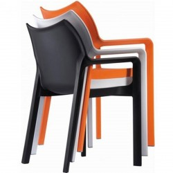 Terni Plastic Garden Chairs Stacking Detail