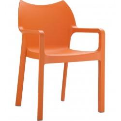 Terni Plastic Garden Chair - Orange