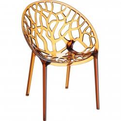 Orick Lattice Garden Chair - Amber