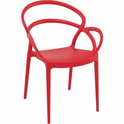Scalby Stackable Garden Chair - Red