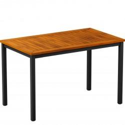 Cambria Wood & Metal Rectangular Table Robina  Top