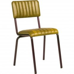 Fintry Vintage Faux Leather Side Chair Vintage Gold