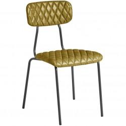 Kara Vintage Faux Leather Side Chair Vintage Gold