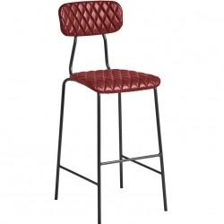 Kara Vintage Faux Leather Bar Stool Vintage Red