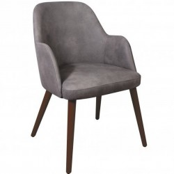 Cramer Faux Leather Upholstered Armchair Steel Grey