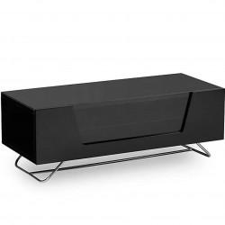 Alphason Chromium 2 Black Glass TV Cabinet Closed