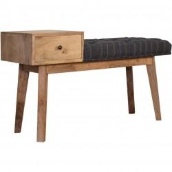 Balallan Tweed Bench with 1 Drawer