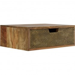 Geo Honeycomb Brass-plated  Bedside Unit