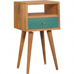 Arron  Small Bedside Table Teal
