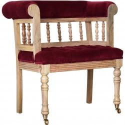 Brochere Mini  Hallway Chair - Wine Red